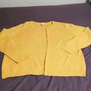Croft & Barrow cardigan sz XXL dandelion yellow